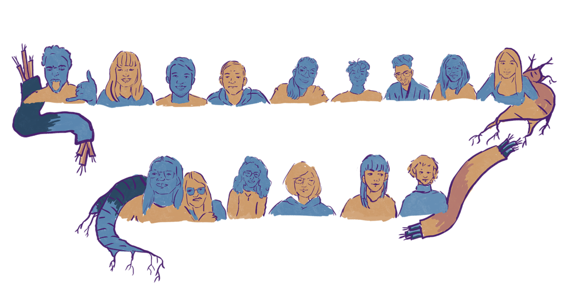 Group silhouettes